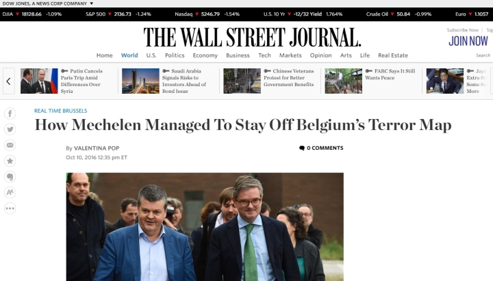 The Wall Street Journal mispakt zich aan Mechelse misdaadcijfers